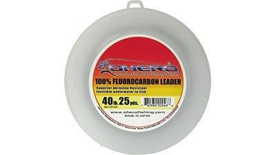 Ohero 100% Fluorocarbon Leader 40 Lb 25 Yards Spool (Fluorocarbon Spool Leader)