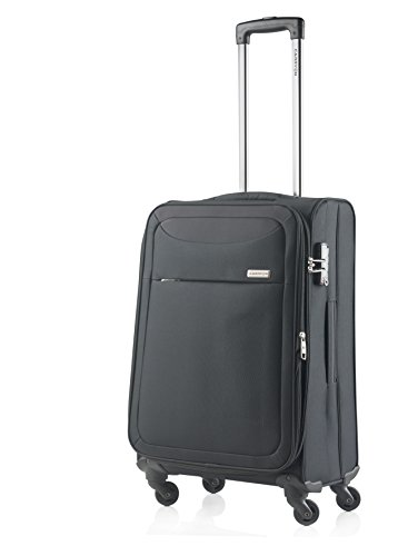 Carry On Reisekoffer (CarryOn Air Weicher Reisekoffer Polyester TSA Reisetrolley 67cm schwarz)