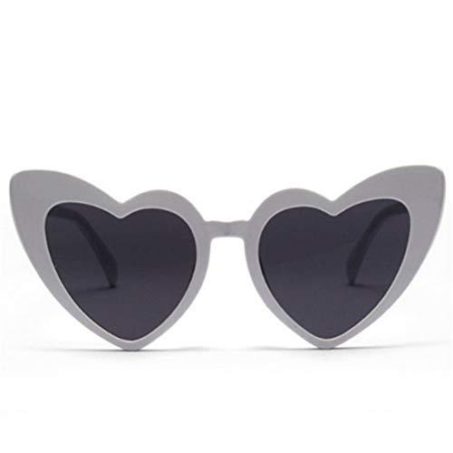 GJYANJING Sonnenbrille Modische Herz Sonnenbrille Frauen Cat Eye Vintage Brille Liebe Party Brille Zum Verkauf