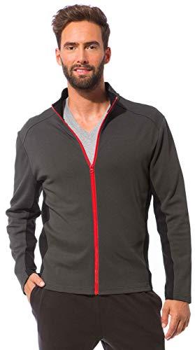 Baumwoll-jersey-strickjacke (Morgenstern Strickjacke Herren aus Baumwolle grau in M zweifarbig Jersey-Jacke Fitness-Jacke komfortabel Soft für Jungs für Laufen)