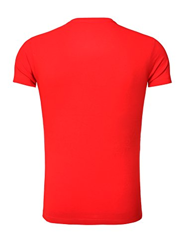 Goodflow Herren T-Shirts Slim Fit Rundhals Basic Rot