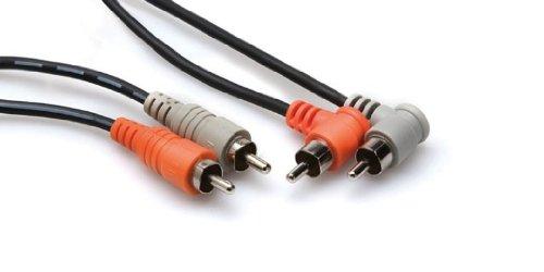Hosa Stereo INTERCON Dual rca-dual r-angle rca1m Audio-dual-rca-m/m Stereo