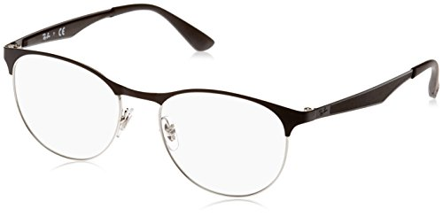 Ray-Ban Unisex-Erwachsene Brillengestell 0rx 6365 2861 51, Silber (Silver Top On Black)