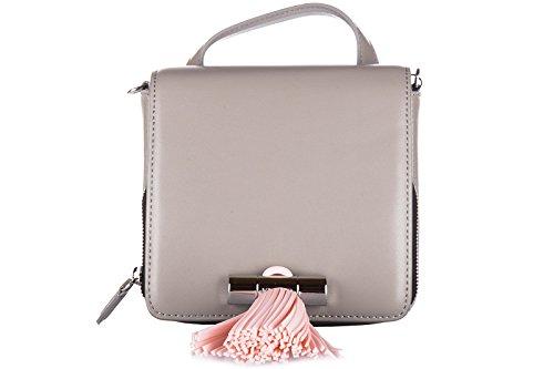 Kenzo borsa donna a mano shopping in pelle nuova sailor grigio
