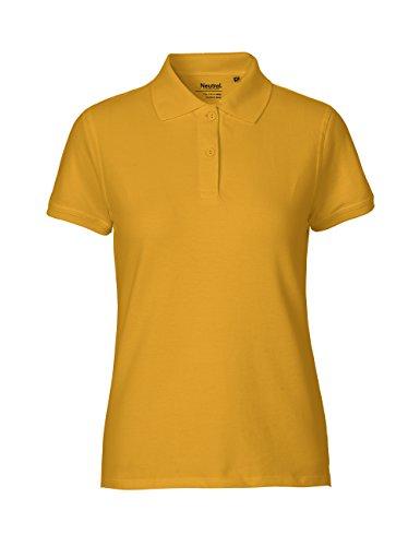 Spirit of Isis -Neutral- Ladies Classic Polo T-Shirt, 100% Bio-Baumwolle. Fairtrade, Oeko-Tex und Ecolabel Zertifiziert, Textilfarbe: Gelb, Gr.: M (T-shirt Gelben Krankenschwester)