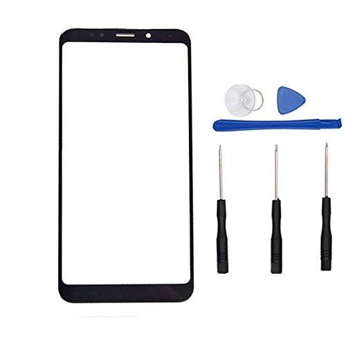 Soliocial Reemplazo de Pantalla Frontal de Vidrio Exterior para Xiaomi Redmi 5 Plus (Not LCD and Not Digitizer) Negro