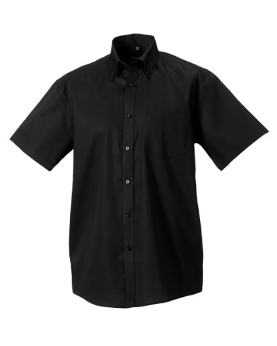 russell-chemise-a-manches-courtes-sans-repassage-homme-tour-de-cou-48cm-noir