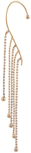 Grandiose Womens question mark Gold & Diamond Earcuffs with Falling Beads and...