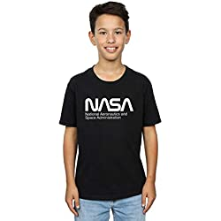 NASA Niños Aeronautics and Space Camiseta Negro 7-8 Years