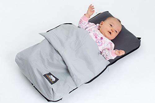 Deryan Air-Traveller Baby Sitz-und Bettlösung für Flugzeug einfach lösbare Riemen Überzug waschbar unter 1 kg, black/grey
