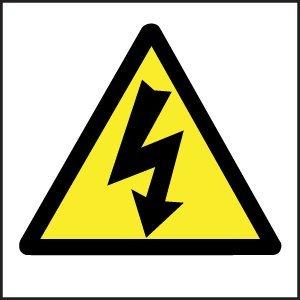 Warnzeichen–Strom Symbol (Selbstklebendes Vinyl/200x 200mm)