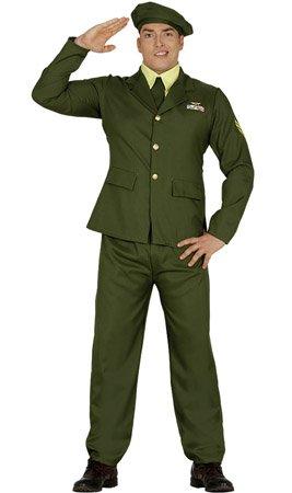 Militär Soldat Kostüm für Herren Soldaten Herrenkostüm Offizier General Gr. M-L, ()