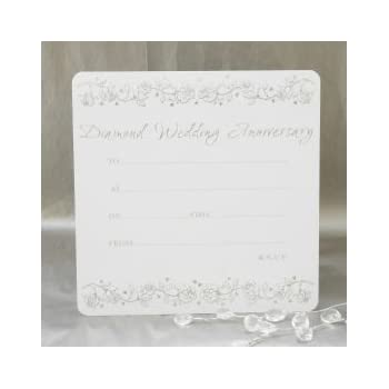 Diamond Wedding Anniversary Invitations  Pack Of  AmazonCoUk