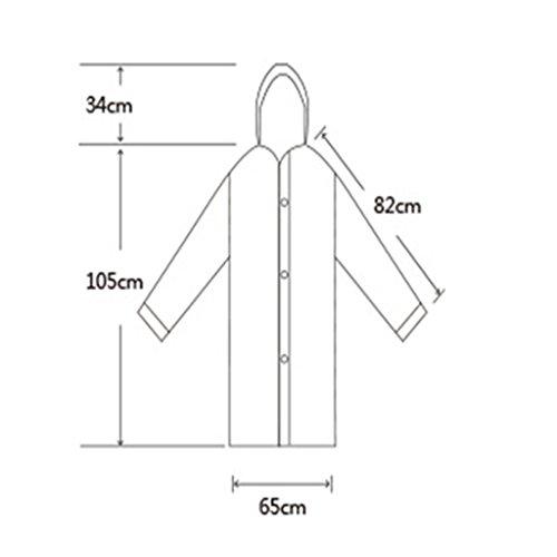 Guo Erwachsene im Freien Adult Raincoats EVA Lange Windjacke Poncho ist nicht ein One-Time ( farbe : # 4 ) #3
