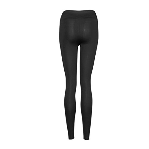 ★★2017 Ularmo® Femmes YOGA Sports Pants Faire des Exercices Gym Pantalons sport Leggings Taille Haute Aptitude Étendue Pantalon ★★ Noir
