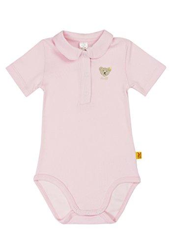 Steiff Unisex - Baby Body 0008683 1/2 Arm, Einfarbig, Gr. 80, Rosa (Barely Pink)