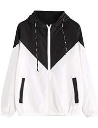 BYSTE Sweatshirt Felpa con Chiusura Lampo Manica Lunga Felpa con Cappuccio  Felpe Tumblr Giacca Sportiva e d37b6ec2eb8