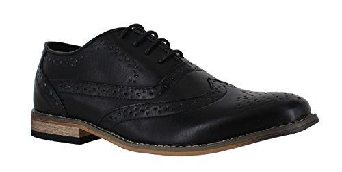 Museums and Galleries Classics Étui pour homme Imitation daim formelle Shoe Avenue Chaussures richelieu à lacets classique Noir lisse