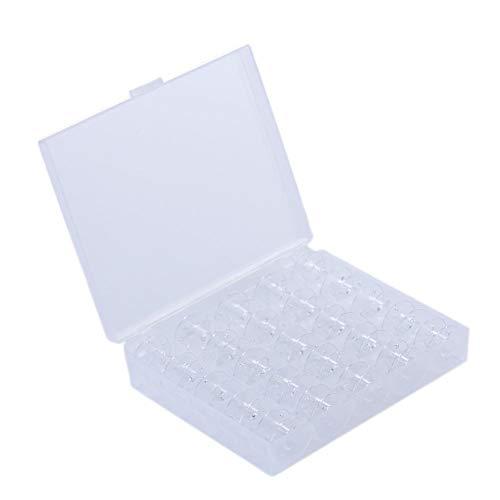 Leking 1 Box (25 Stück) Nähmaschine aus Kunststoff Eisenspulen Fadenspulen mit Aufbewahrungsbox UN (Babylock Nähmaschinen)