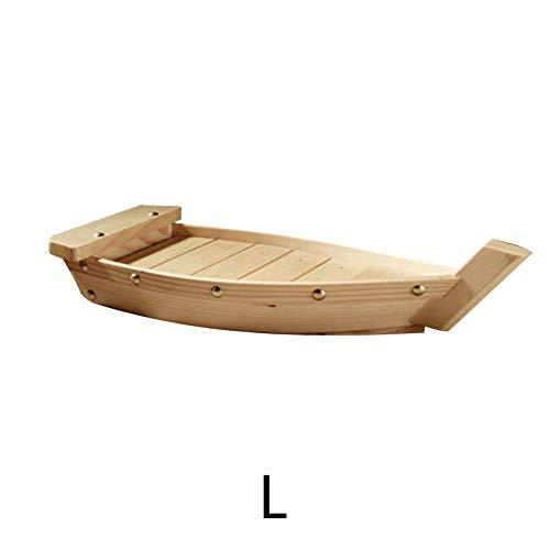 Información del Producto:   Material: madera   Tamaño (aprox.): Pequeño: 33 * 15 * 6cm /12.99*5.91*2.36in, Medio: 37 * 15.3 * 7cm / 14.57 * 6.02 * 2.76in, Grande: 42 * 17 * 7.5cm / 16.54 * 6.69 * 2.95 en   Escenas aplicables: sushi, sashimi, plato...