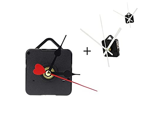Atdoshop Red Heart Hands DIY Quartz Wall Clock Movement Mechanism