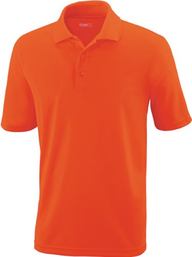 CORE 365Herren Pinnacle Performance Short Sleeve Pique Polo Shirt CAMPUS ORNG 470