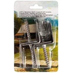 """Zaunbeschläge Winkel zur Befestigung von Sichtschutzzäunen am Zaunpfosten aus V2A Edelstahl """"Newa"""""""