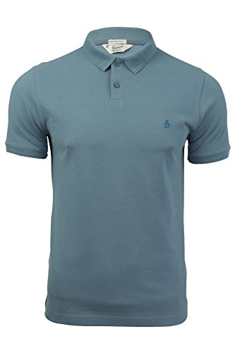 mens-polo-t-shirt-da-original-penguin-winston-maniche-corte-aegean-blue-xl