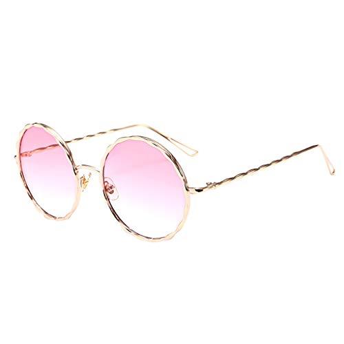 REALIKE--Sonnenbrillen für Damen Klassische Gold Rund Farben Verspiegelt Vintage Retro Brille...