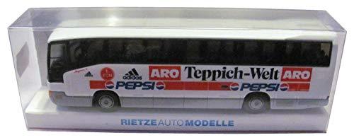 1.FC Nürnberg - Pepsi Cola & ARO Teppich Welt - MB O 404 RHD - Teambus - Reisebus - Bus - von Rietze - Motiv 1