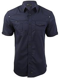 Dissident - Camisa casual - Clásico - Manga corta - para hombre