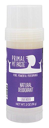 Primal Pit Paste Stick Natural Deodorant Lavender 2 Ounces by Primal Pit Paste