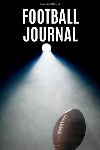 Football Journal: Small Edition Notebook 6inX9in A5 120 pages Wide lined