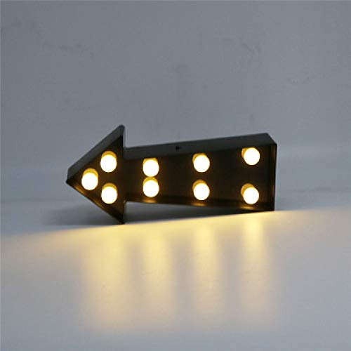Ins Arrow Modeling Guide Night Light Guide Light Hallway Stairs Room Decoration Lights Photo Props Black 100 * 225Mm -