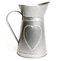 Idea Regalo - Carousel Home New England, brocca di latta stile shabby chic