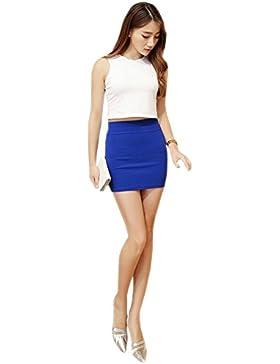 XFentech Transpirable falda lápiz mujer talla grande falda corta de cintura alta