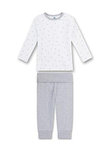 Sanetta Sanetta Unisex Baby Zweiteiliger Schlafanzug Pyjama Long, Grau (Hellgrau Melange 1646.0), 74