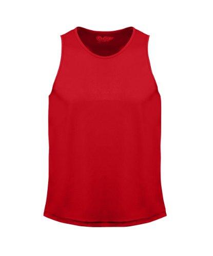 Just Cool - Performance Trägershirt, atmungsaktiv Red