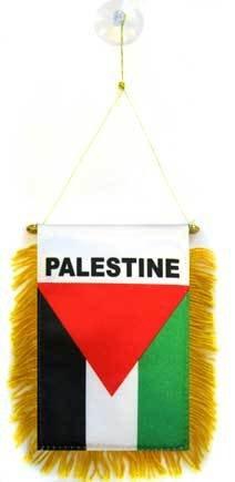 AZ FLAG Fanion Palestine 15x10cm - Mini Drapeau palestinien 10 x 15 cm spécial Voiture - Bannière