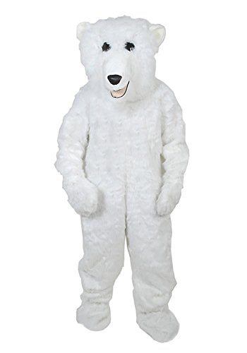 Eisbär Fell Kostüm Einheitsgrösse L - XL Fasching -