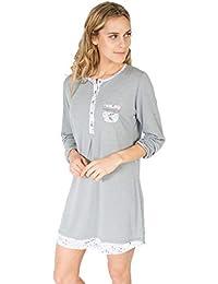 MASSANA - Camisola de Mujer Gris Flores L687232 L