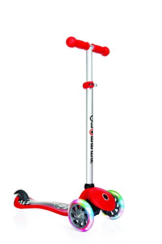 Globber Elite Scooter With Deck Lights - Red Best Price and Cheapest