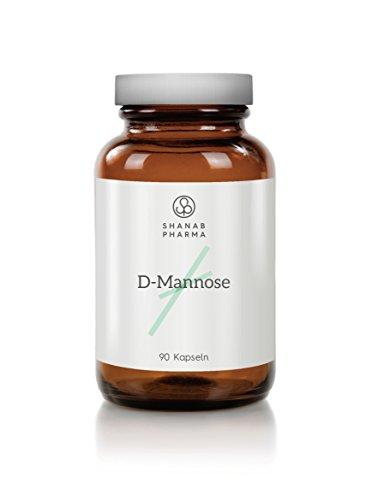 Shanab Pharma D MANNOSE, D Mannosio 90 Capsule - Ultra Puro, Alta Qualità - Bottiglia Di Vetro - Dall'Austria