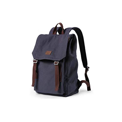 FF Männer Rucksack Travel Canvas Tasche Studenten Schultasche Weibliche Laptop-Tasche (Farbe : Blue Black) Bowties Cummerbunds