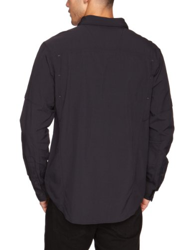 Columbia Herren Silber Ridge Long Sleeve Shirt Schwarz