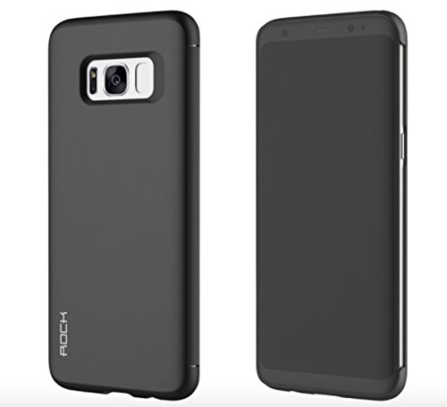 Samsung Galaxy S8 Case,Rock DR V Smart View Flip Case Book Cover For Galaxy S8 - Black  available at amazon for Rs.1444