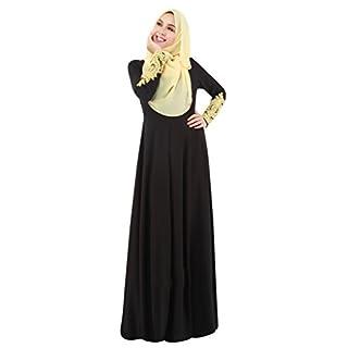 Ake Women's Lady Muslim Long Clothing Abaya Islamic Kaftan Burka Maxi Dress -Black