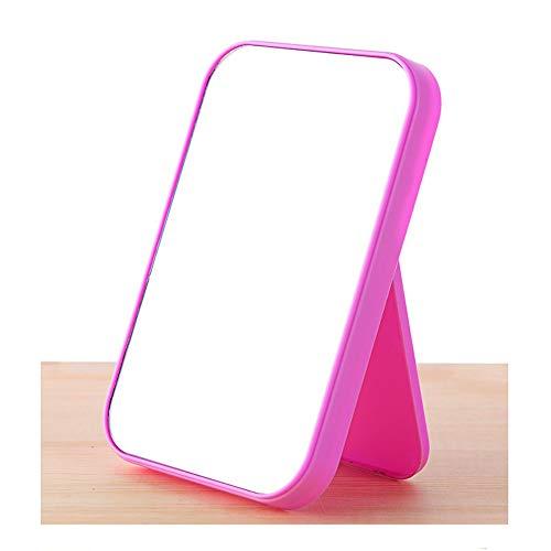 Hoher Listen-Gesichts-Make-upspiegel, Der Den Bunten Schreibtischspiegel Der Großen Quadratischen Prinzessin Spiegel-tragbaren Schönheits-Spiegel Faltet (Color : Purple)