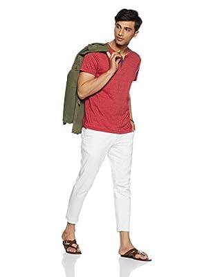 Arrow Sports Men's Solid Regular Fit T-Shirt