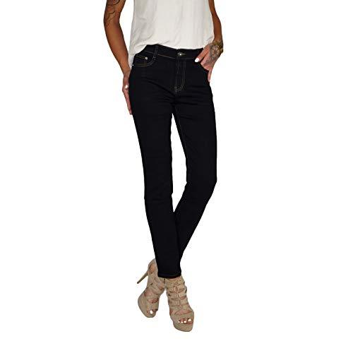 8e37842415c1d6 Dresscode-Berlin DB Damen Stretch High Waist Straight Leg Jeans bis  Übergröße 38-50 in schwarz, blau und weiß